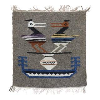 Navajo Pigeon Mini Square Rug , 14'' X 15'' For Sale
