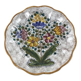 Firenze Italy Hand Painted Wall Hanging Bowl Plate For Sale