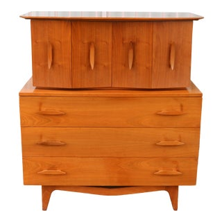 1960s Vintage Highboy Dresser For Sale