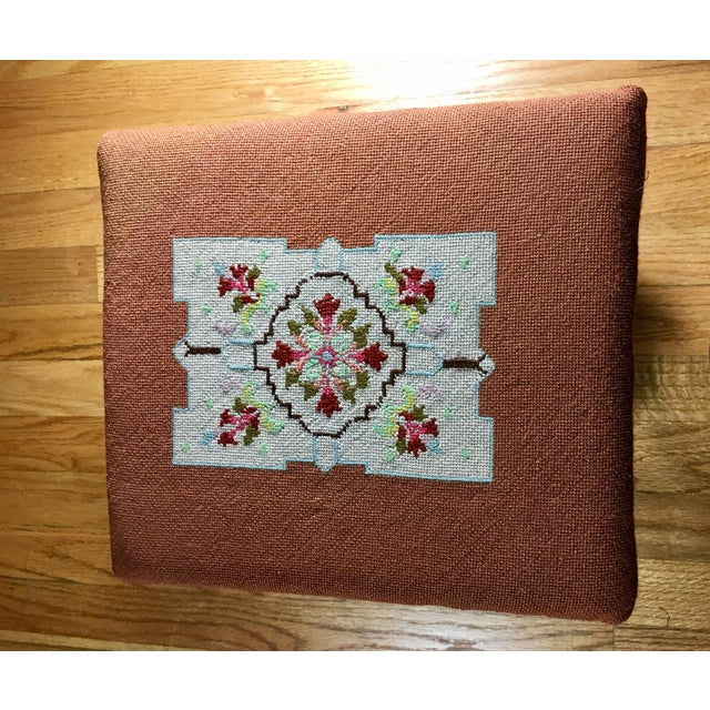 Kingman Needlepoint & Cast Iron Claw Foot Stool For Sale In Seattle - Image 6 of 11