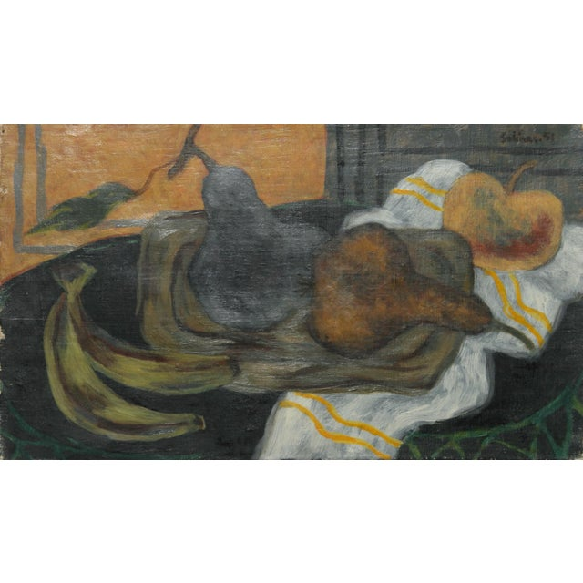 Impressionism Laurent Marcel Salinas, Nature Morte, Oil on Canvas For Sale - Image 3 of 3