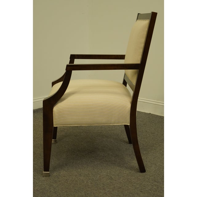 Vintage Lexington Furniture Nautica Home Collection Upholstered Accent Arm Chair For Sale In Kansas City - Image 6 of 10