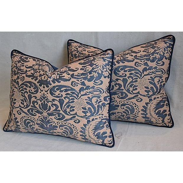 "Italian Mariano Fortuny Corone Feather/Down Pillows 24"" x 18"" - Pair For Sale - Image 5 of 11"