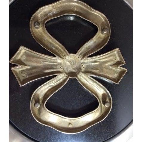 Vintage Hollywood Regency Brass Bow Trivet - Image 4 of 4