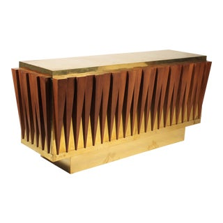 1970s Custom Paolo Buffa Attributed Credenza for Hotel in Italy For Sale