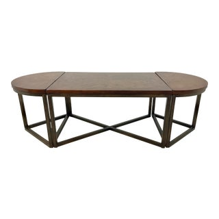 Contemporary Caracole Wood and Metal Cocktail Table For Sale