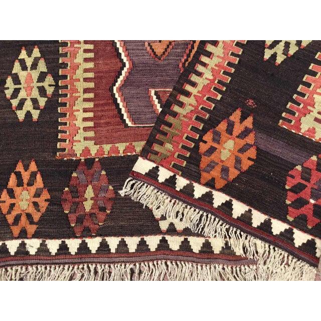 Vintage Turkish Kilim Rug For Sale - Image 9 of 10