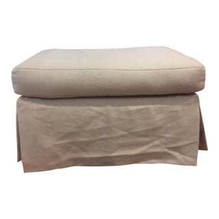 Late 20th Century Skirted Ottoman For Sale