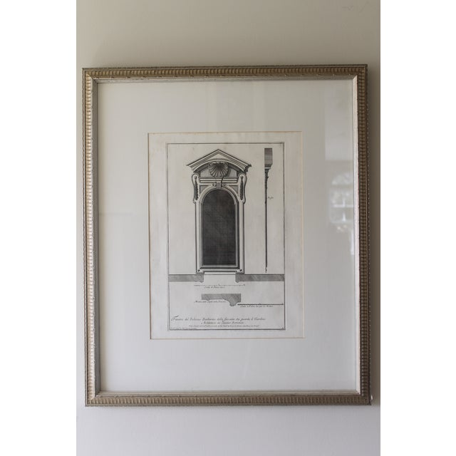 18th Century Antique Framed Architectural Engraving For Sale - Image 11 of 11