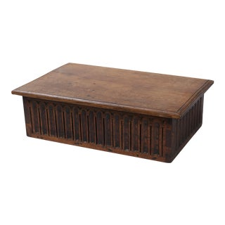 Antique Oak Gothic Bible Document Box
