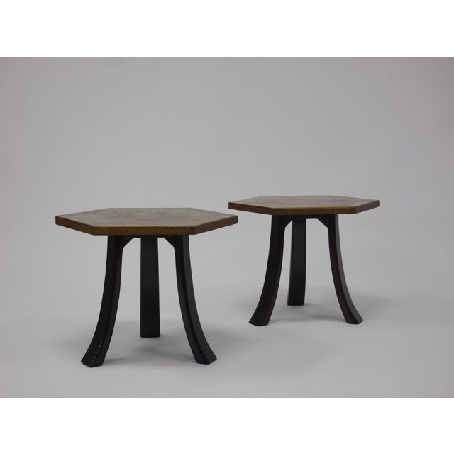 Harvey Probber Pair of Harvey Probber Acid-Etched Bronze Tables For Sale - Image 4 of 11