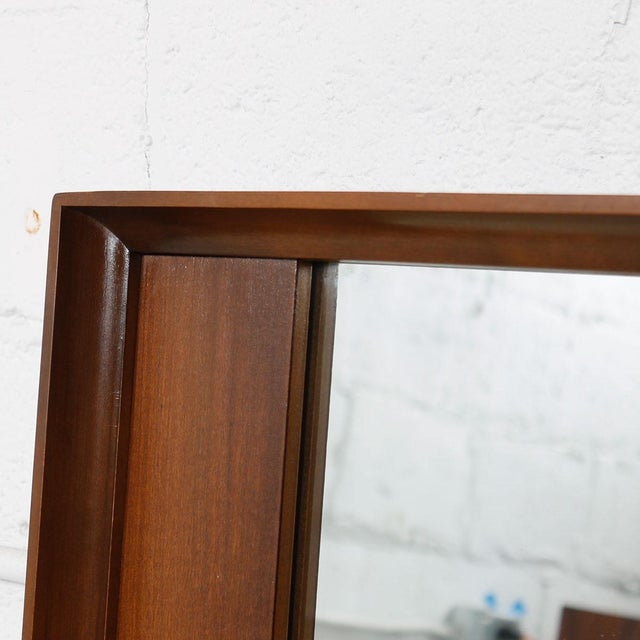 Mid-Century Modern Mid-Century Modern Walnut Mirror For Sale - Image 3 of 4