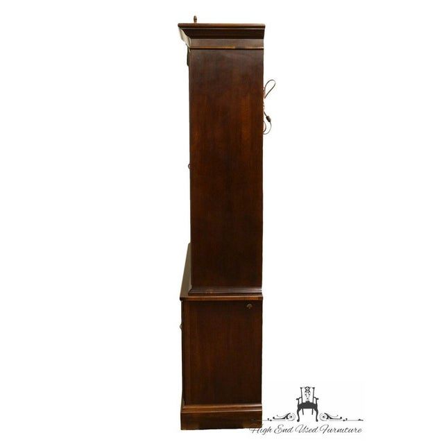 Late 20th Century Vintage American Drew Cherry Chippendale China Cabinet For Sale - Image 10 of 13