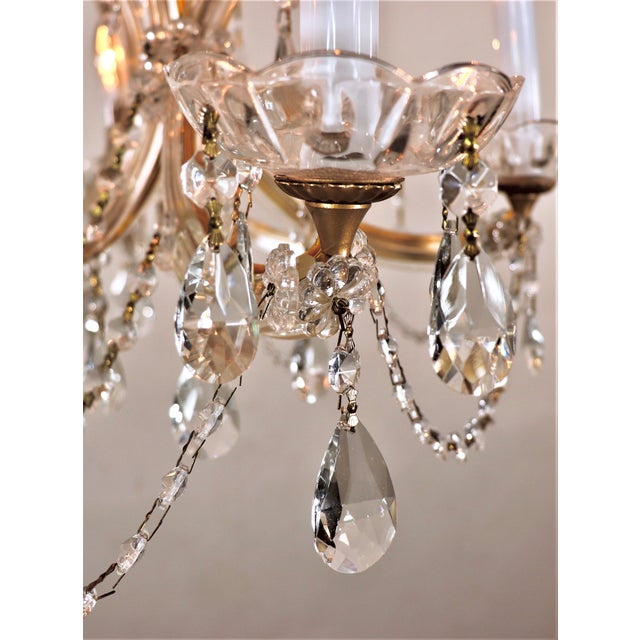 Early 20th Century Vintage Maria Theresa Crystal Chandelier For Sale - Image 5 of 13