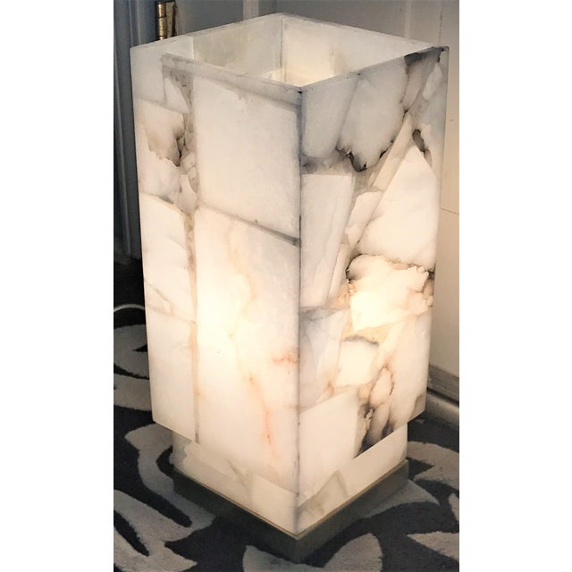 Jaime young rectangular alabaster table lamp chairish jaime young rectangular alabaster table lamp image 10 of 11 mozeypictures Image collections