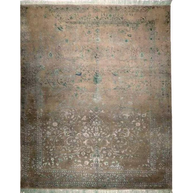 Blue & Gray Hand Knotted Indian Rug - 8′ × 10′ - Image 1 of 9