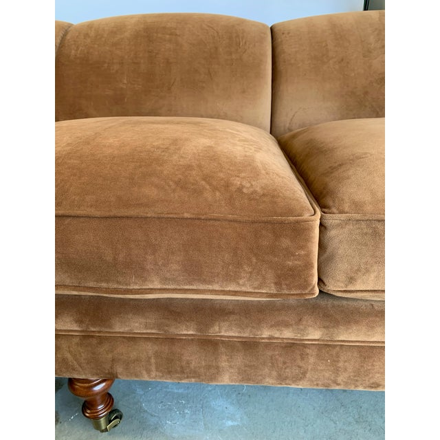 Brown Ralph Lauren Langholm Sofa in Like New Condition For Sale - Image 8 of 11