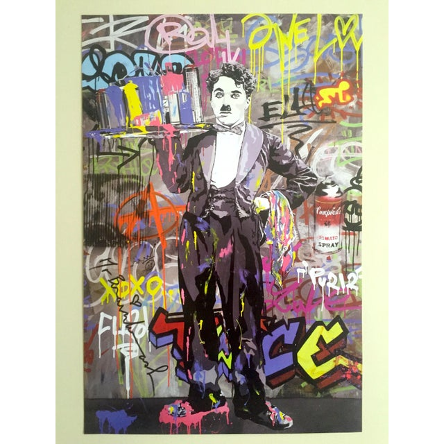 "This original lithograph print Pop Art poster by the world famous French born and Los Angeles based "" Mr. Brainwash "" is a..."