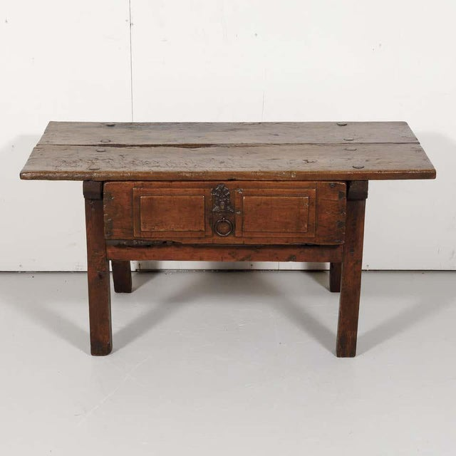 18th Century Solid Walnut Spanish Side Table For Sale - Image 4 of 13