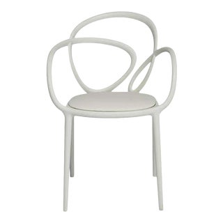 White Loop Padded Armchair by Nika Zupanc For Sale