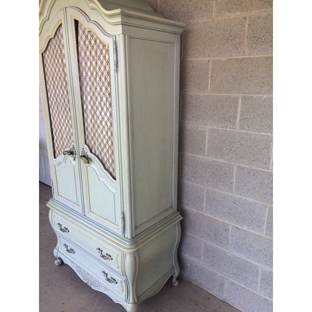Hickory White French Provincial Armoire For Sale In Philadelphia - Image 6 of 11