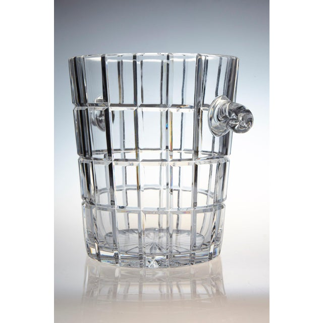 1960s French Cut Crystal Wine Cooler or Champagne Ice Bucket With Handles, Circa 1960s For Sale - Image 5 of 9