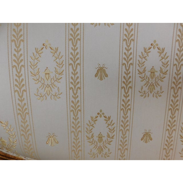"""Yellow Quality Louis XVI Style Gilt Frame Settee Sofa 57""""w For Sale - Image 8 of 13"""