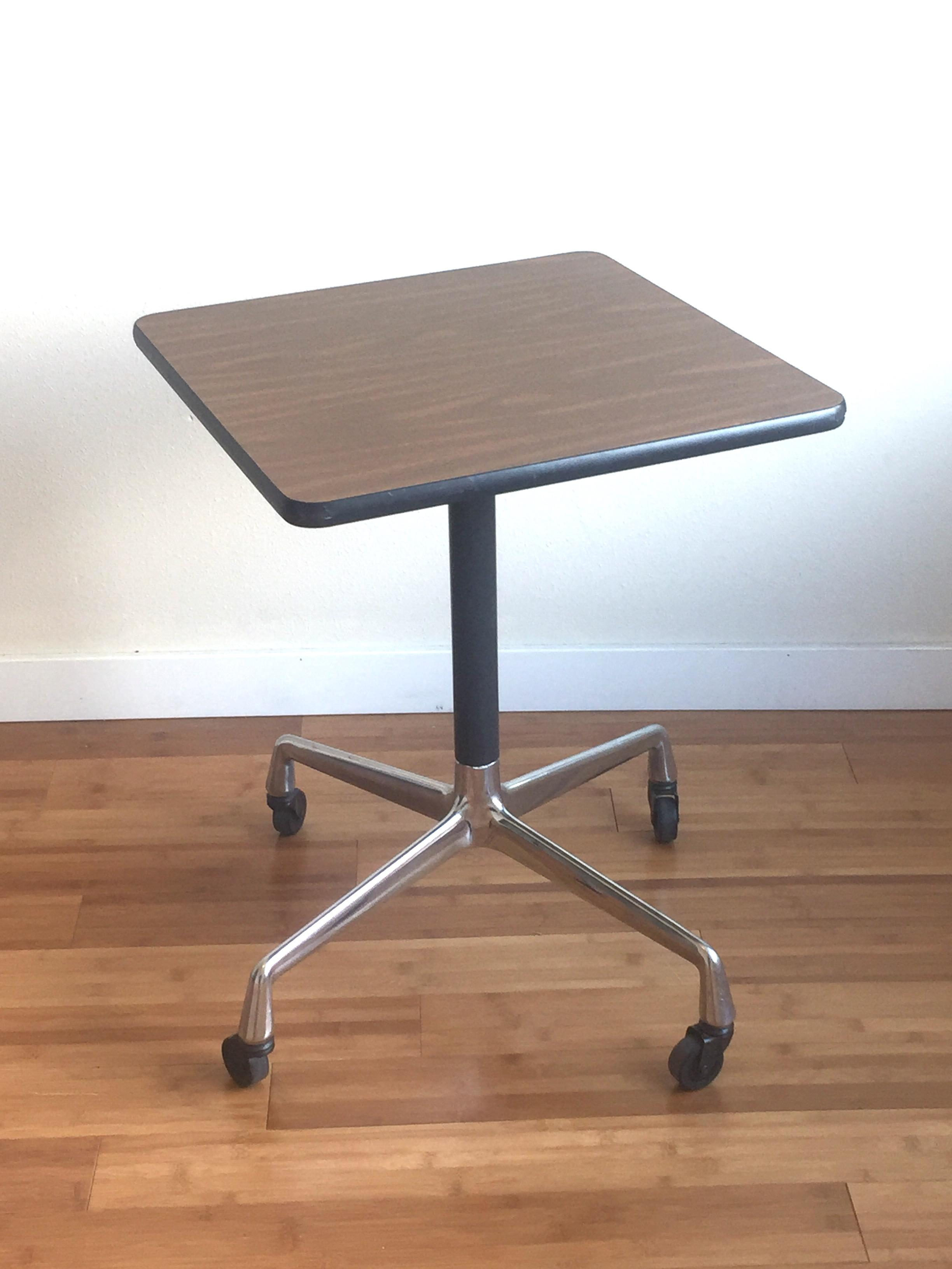 Eames Era Herman Miller Rolling Side Table   Image 2 Of 10