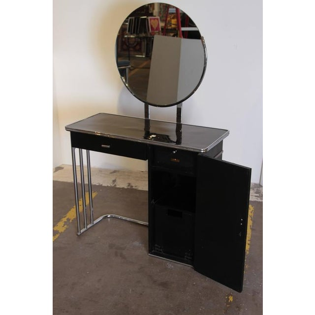 Machine Age Art Deco Royalchrome Dressing Table #347 by Royal Metal, 1936 For Sale - Image 9 of 11