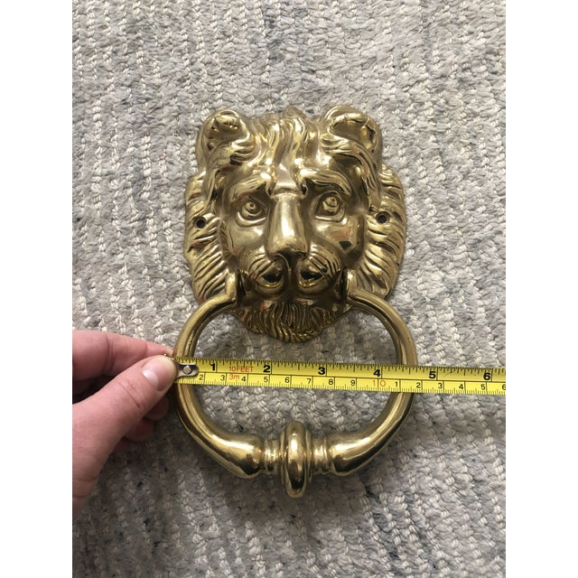 1950s English Traditional Lion Head Door Knocker For Sale In Dallas - Image 6 of 7
