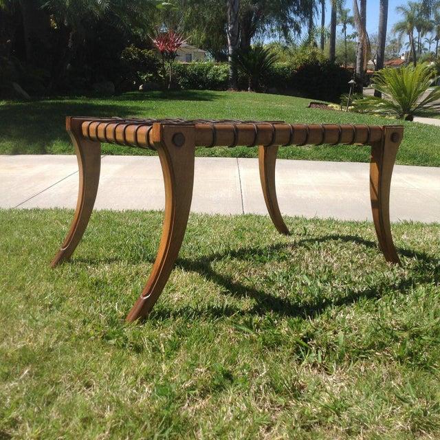 Mid-Century Modern Mid Century Modern Klismos Bench For Sale - Image 3 of 7