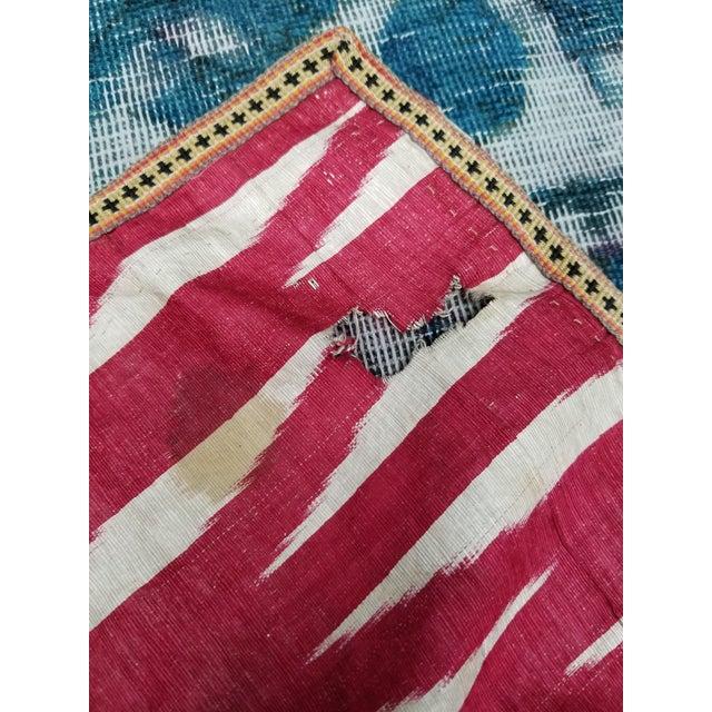 19th Century Vintage Turkish Ikat Textile For Sale - Image 10 of 12