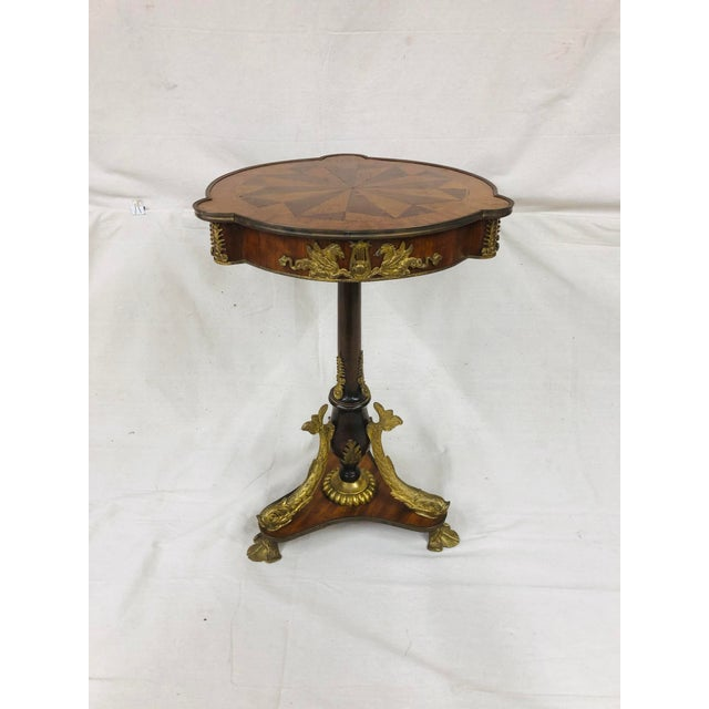 Early 20th Century Empire Style Side Table With Mounted Ormolu For Sale - Image 10 of 10