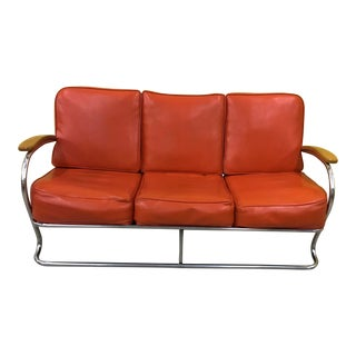 Kem Weber for Lloyd Manufacturing 3 Seat Sofa For Sale
