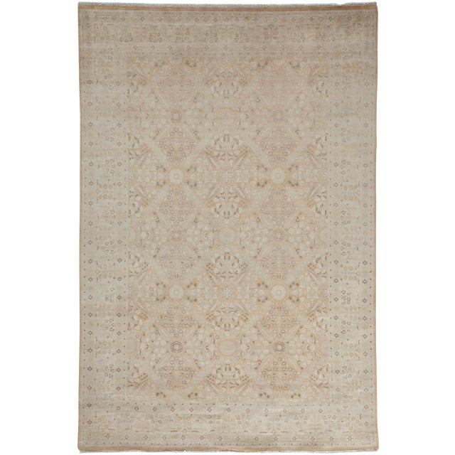 """Oushak Hand Knotted Area Rug - 5'10"""" X 8'9"""" For Sale"""