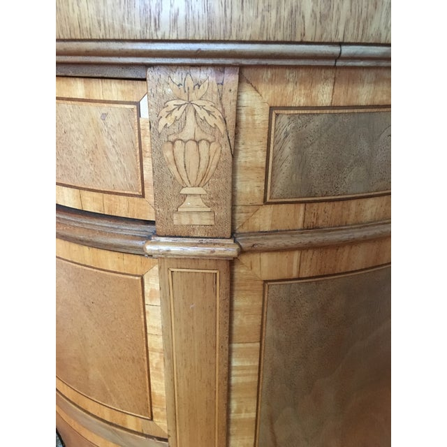 Mahogany Leather Top Kidney-Shaped Desk For Sale - Image 4 of 6