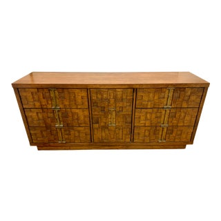Mid Century Brutalist Paul Evans Style Walnut Dresser Credenza For Sale