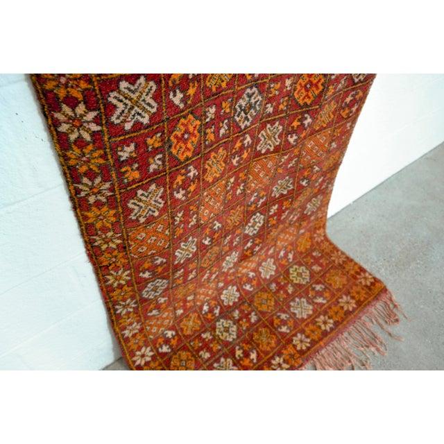 "Vintage Moroccan Boujad Floor Rug Runner - 3'3"" x 8'5"" For Sale - Image 5 of 10"