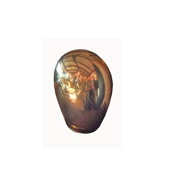 Metal Contemporary Italian Salviati Murano Gold Glass Lamp For Sale - Image 7 of 7