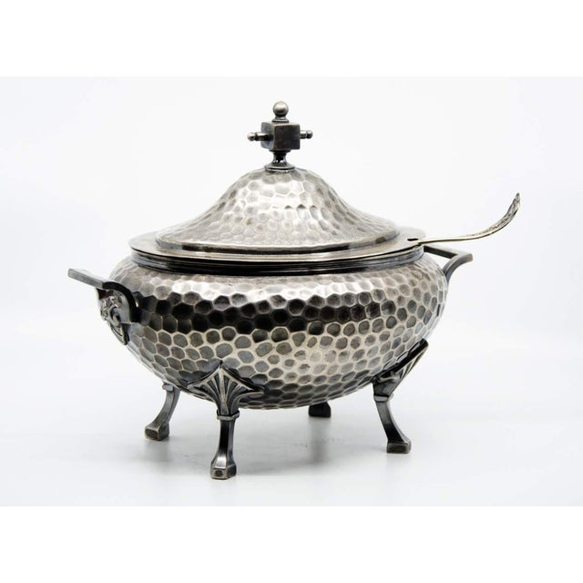 Aesthetic Movement 19th C. Meriden B. Company Silver Plated Soup Tureen and Spoon - a Pair For Sale - Image 3 of 13