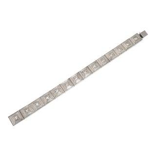 Art Deco Allco Geometric Link Bracelet 1920s For Sale