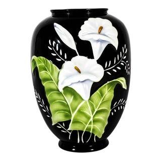 Vintage Hand-Painted Porcelain German Vase For Sale