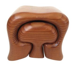 Vtg Redwood Mushroom Trinket Box For Sale