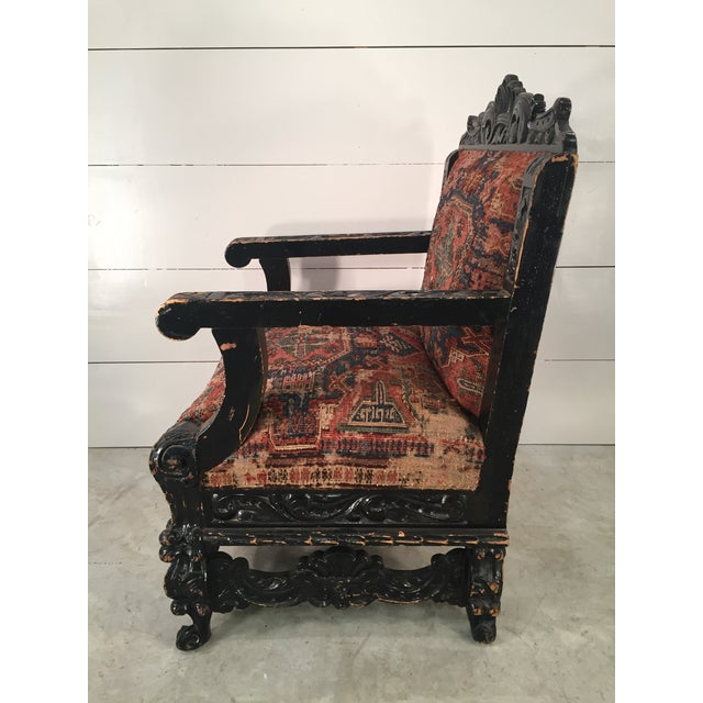 Antique Mexican Arm Chair - Image 2 of 7