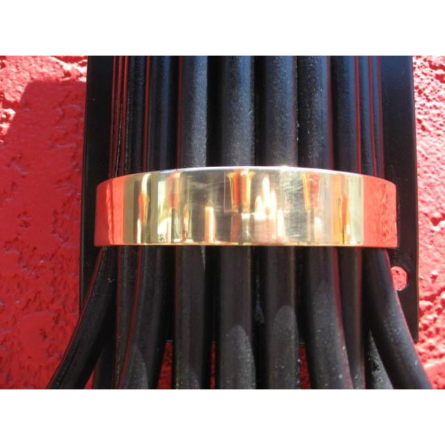 Mid-Century Large Wall Sconce With Brass Accents For Sale In Los Angeles - Image 6 of 7