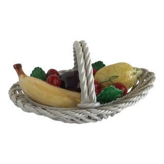 Vintage Italian Hand Painted Fruit Basket