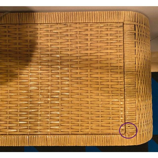 Minimalist Coastal-Style Rattan Console Table For Sale - Image 12 of 12