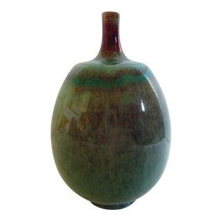 1968 Berndt Friberg Gustavsberg Hare's Fur Glaze Vase For Sale