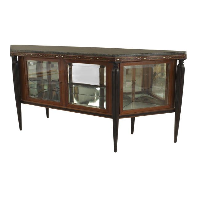 French Art Deco Mahogany Sideboard Cabinet For Sale