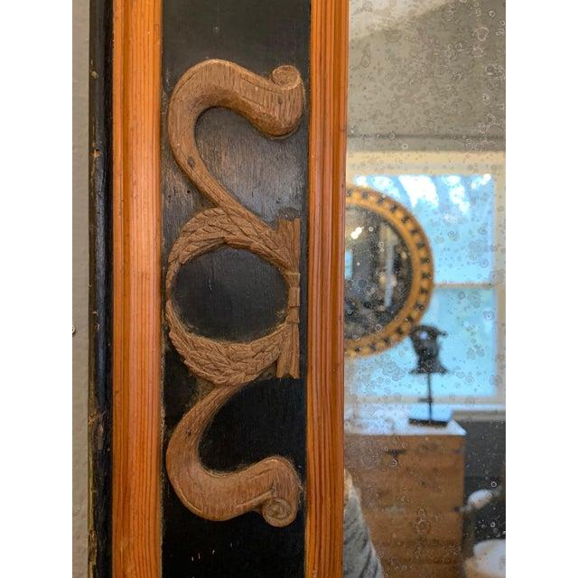 Art Nouveau Carved Wood Art Nouveau Mirror With Fleur-DI-Lis For Sale - Image 3 of 13